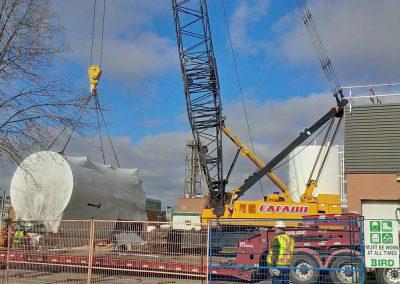 Crane Moving Boiler
