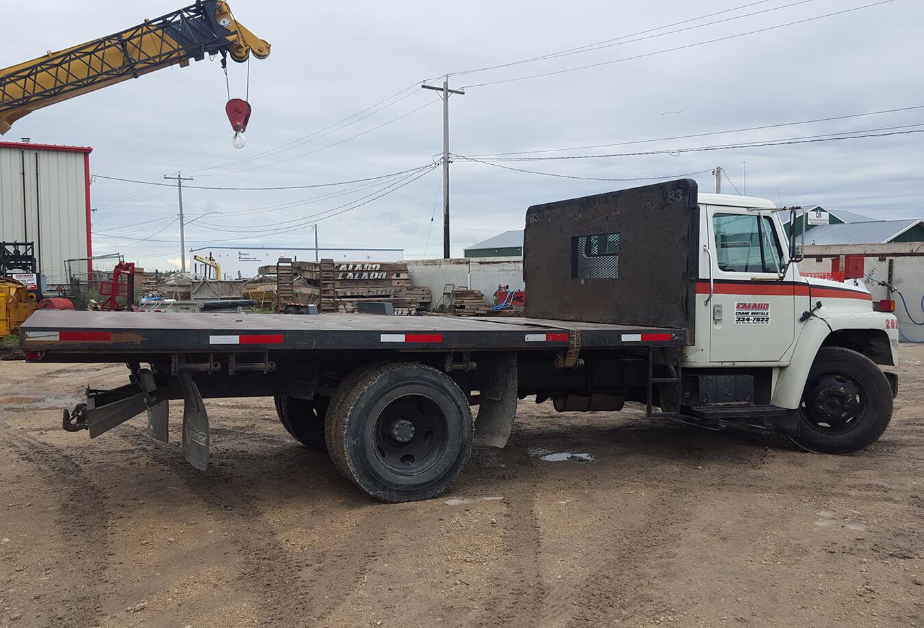 International - Flat Deck Truck - Back